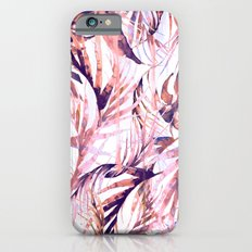 Coral Tropical Palms iPhone 6 Slim Case