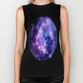Galaxy Planet Purple Blue Space Biker Tank