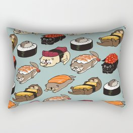 Sushi Otter Rectangular Pillow