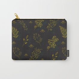 Thin delicate lines silhouettes of different plants. Carry-All Pouch