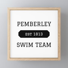 Pemberley Swim Framed Mini Art Print