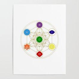 metatron cube seven chakras Poster