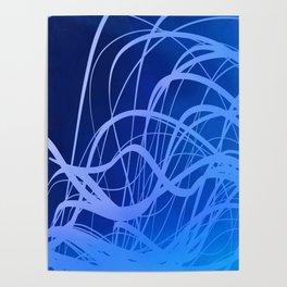 Indigo Flow Poster