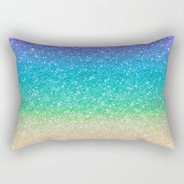 Rainbow Glitter Rectangular Pillow