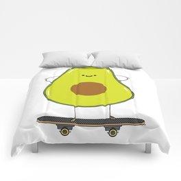 Avocado skater Comforters