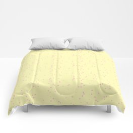 Light Violet Yellow Shambolic Bubbles Comforters