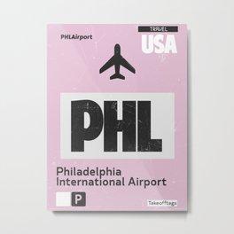 PHL Philadelphia airport code Metal Print