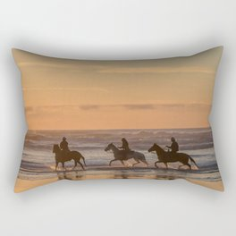Sunset Horse Ride Rectangular Pillow