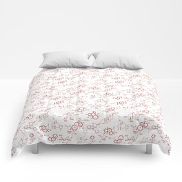Red Molecules Comforters