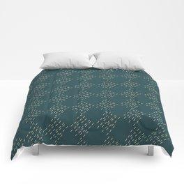 Petrol checkered pattern Comforters