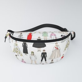Outfits of Audrey Hepburn Fashion (White) Fanny Pack