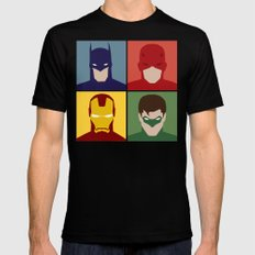 Minimalist Heroes Black Mens Fitted Tee X-LARGE