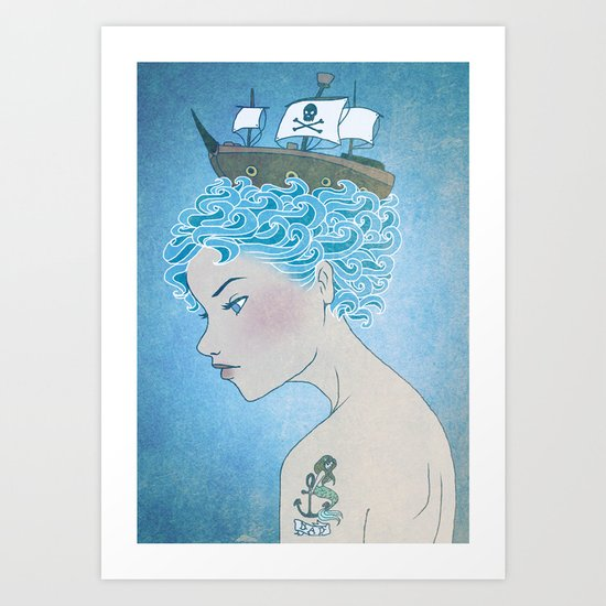 Sailor's Daughter Art Print