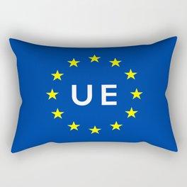 europe country european union  ue flag name text  Rectangular Pillow