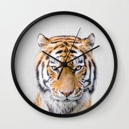 Tiger - Colorful Wall Clock