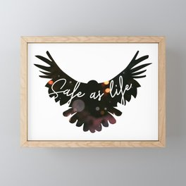 Raven Cycle Safe As Life Framed Mini Art Print
