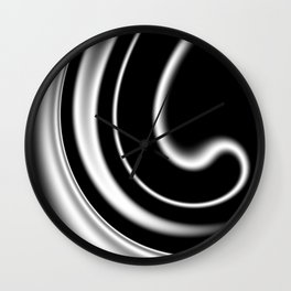 black and white -c- Wall Clock