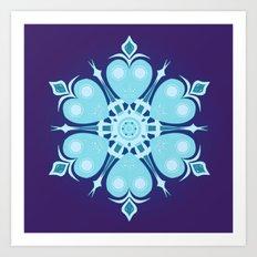 Heartflake Art Print