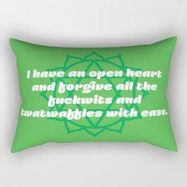 Open heart (Heart Chakra Affirmation) Rectangular Pillow