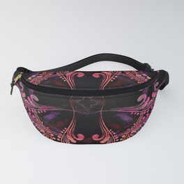 Boujee Boho Medallions in Robust Warm Magenta Fanny Pack
