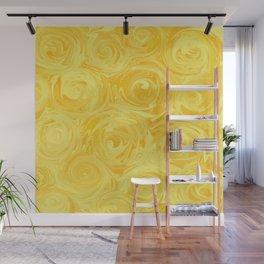 Honey Yellow Roses Abstract Wall Mural