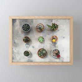 Cactus family Framed Mini Art Print