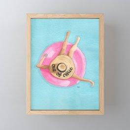 Out of Office Pool Float Framed Mini Art Print