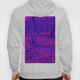 wet woods, red & blue Hoody