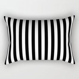 Stripe Black & White Vertical Rectangular Pillow