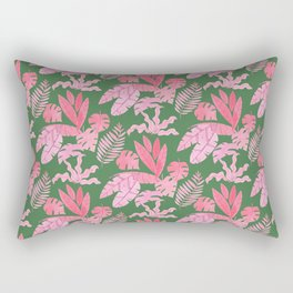 Pink jungle leaves pattern Rectangular Pillow
