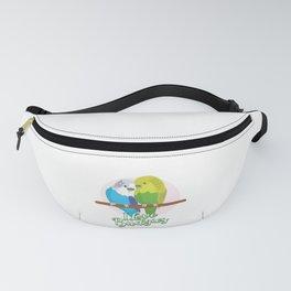 Funny Budgerigar Budgie Pet Bird Lover Nerdy Gift Fanny Pack