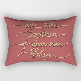 Be the Captain of your own Ship (Red and Beige) Rectangular Pillow