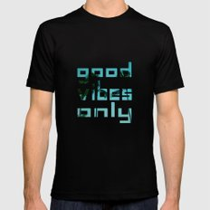 good vibes only // Punta Cana MEDIUM Black Mens Fitted Tee