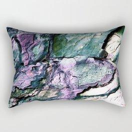 Textured Minerals Teal Green Purple Rectangular Pillow