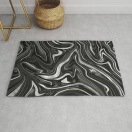 Black Gray White Silver Marble #1 #decor #art #society6 Rug