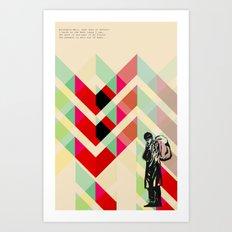Ian Curtis from Joy division Art Print