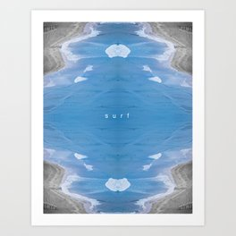 LIVE SURF Art Print