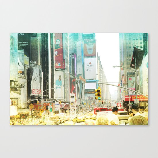 time square _ new york city Canvas Print