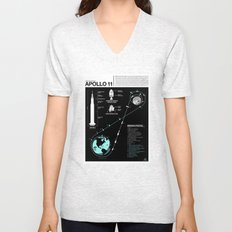 Apollo 11 Mission Diagram Unisex V-Neck