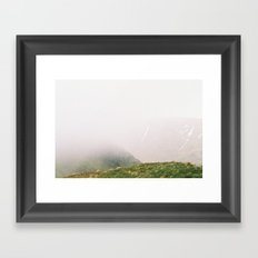 the Mist approaches Framed Art Print