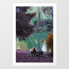 Couple in Fantasy Art Print