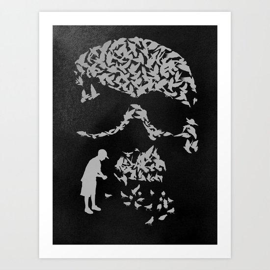 Pigeonholed Art Print