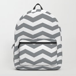 Grey Chevron Pattern Backpack
