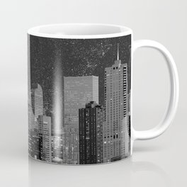 Blood Moon Over Denver Colorado in Black and White Coffee Mug