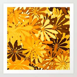 In The Tropics YELLOW Art Print