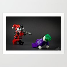 Harley is pure trouble Art Print