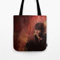 sam smith Tote Bags featuring Sam by Amanda Shae