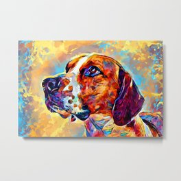 English Foxhound Metal Print