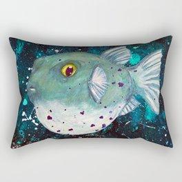 Friendly Green Fugu Redux Rectangular Pillow