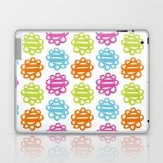 Fun Flowers multi-coloured Laptop & iPad Skin